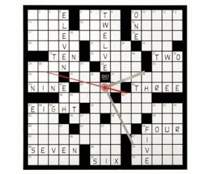 Love crosswords? Love clocks? Why not combine your two loves into one awesome crossword clock!