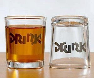 These cool shot glasses feature a very special ambigram (read as one or more words not only in its form as presented, but also from another viewpoint) etched into the […]