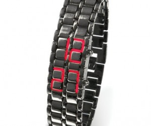 This is the watch that tells time with LEDs built into the band.