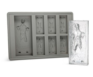 Han Solo Ice Cube Tray – Perfect for reenacting your very own Jabba the Hut carbonite freezing scene.