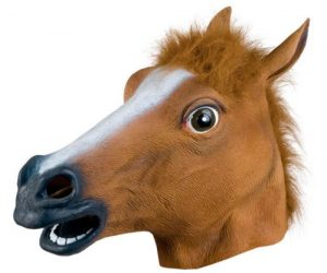 Horse Head Mask – Scare your family and friends with this one of a kind rubber latex horse head mask