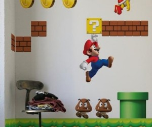 Cover your walls in Mario! It's a tale as old as time. Boy grows up, completely enamored with a