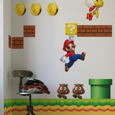 Mario wallpaper decals shut up and take my money - Mario wall clings ...