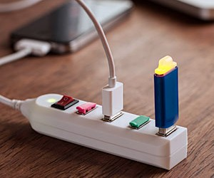 Now four geeks can charge their phones on the same outlet!