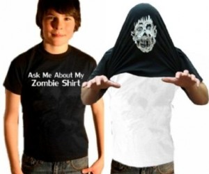 No need to go shopping for a halloween costume this year because you'll already have one with this cool ask me about my zombie shirt