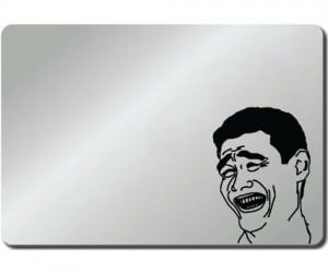 Here is the Yao Ming Bitch Please meme macbook or any laptop sticker decal. Say Bitch please by sticking this