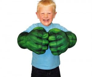 Get your hands on some hulk hands and you too can go smash! Complete with smash and bash sound effects.