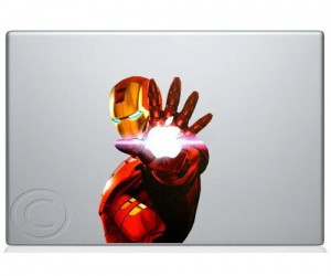 Harness the power of Iron Man with this cool macbook decal.