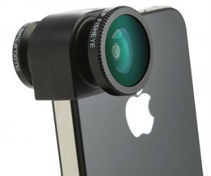 Now you can take pictures on your iPhone like a pro with the olloclip camera lens, this cool lens features fisheye lens, macro lens, and wide-angle lens