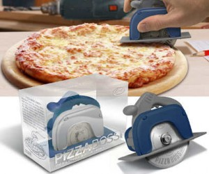 Be a boss with the Pizza boss pizza cutter, it looks like a circular saw so you know its manly