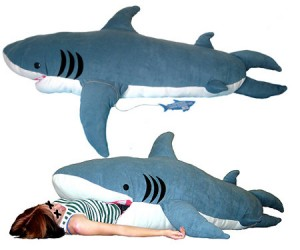 "Sleep with the fishes with this hilarious ""Chumbuddy"" shark sleeping bag!"