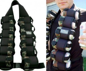 Beer Holster – Now you can be like an alcoholic Rambo at your next party, with the Hops Beer Holster.