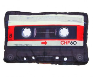 Retro Cassette Pillow – Bring back a little retro spirit with the Retro Cassette Pillow