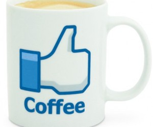 Facebook Like Coffee Mug – Facebook fans can now enjoy their coffee in style with the facebook like coffee mug