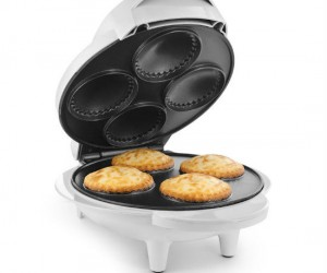Ever wanted your personal pie factory? Well now you can have one with the Personal Pie Maker this baby is capable of making 4 individual mini pies!