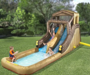 Giant Backyard Inflatable Log Flume – Who needs to go to the water park when you have a giant log flume in your backyard?