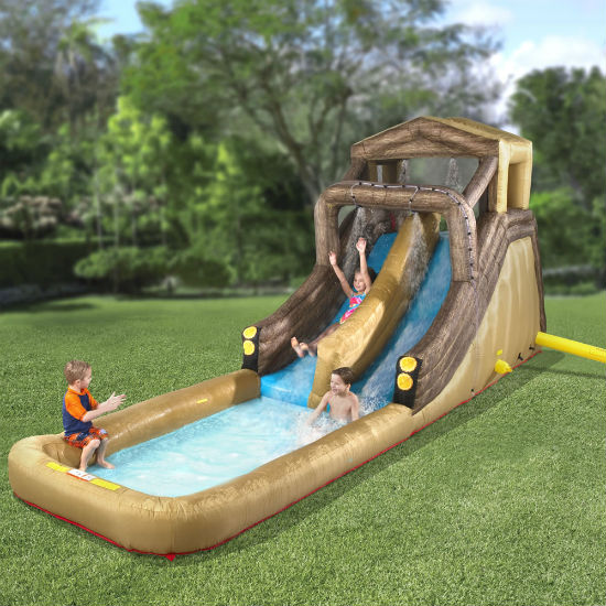 giant inflatable log flume
