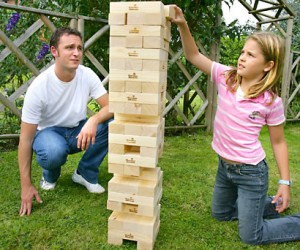 Giant Jenga set – One wrong move in this game and you could kill somebody