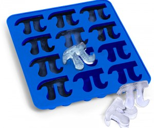Pi Ice Cube Tray -Make your beverages taste 3.14159… times better when you add a couple Pi shaped ice cubes to them