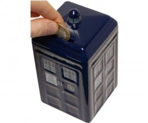 TARDIS Money Bank – What safer place to store your money than in a time machine