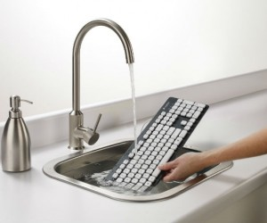 Washable Keyboard – Finally a keyboard that lets you easily wash off all the grime, dirt, and cheeto stains.