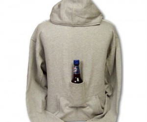 Beer Pouch Hoodie – A sweater complete with a convenient little pouch to hold your favorite beverage
