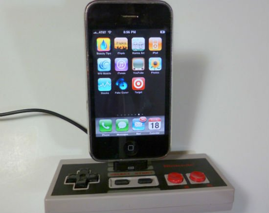 nintendo controller iphone charging dock