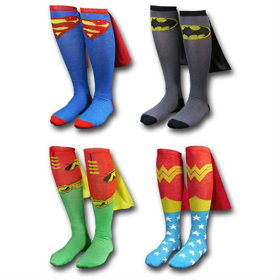 superhero cape socks