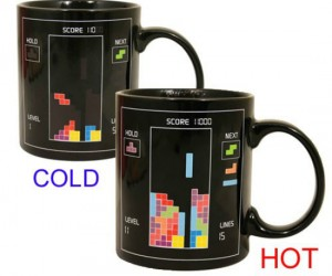 Tetris Heat Changing Mug – Play Tetris as you drink your coffee!