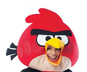 "Angry Birds Mask – ""Wheeeeeeeeeeee!"" You won't have any little green pigs messing with you this Haloween in this mask."