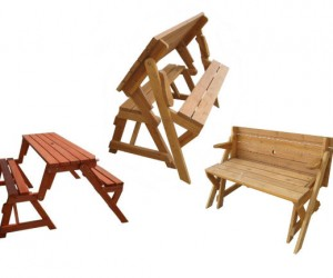 Can't decide whether you wan't a picnic table or a garden bench? Well why decide when you can have both? With the interchangeable Picnic Table to Garden Bench.