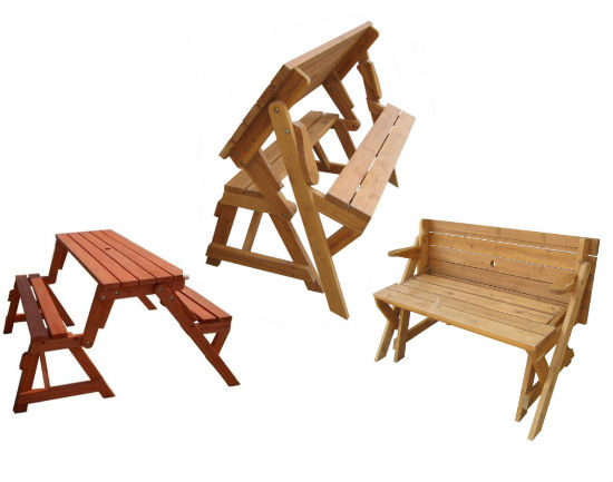 Convertible Picnic Table And Garden Bench Shut Up And