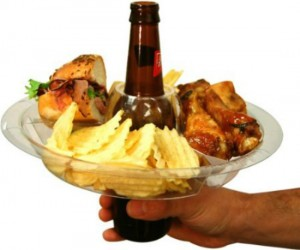 Drink Plate Holder – You can use your beer bottle, beer can, or your beer in a cup to hold up your plate. I guess you could use other drinks […]