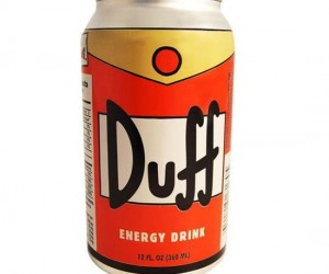 Duff Man says drink Duff Energy Dring Oh Yeah! Enjoy a Duff even if you are underage 'cause this energy drink is non-alcoholic.