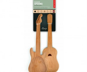 Rockin Guitar Spoons – Rock out with this set of 2 wooden guitar spoons