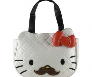 Be girly with Hello Kitty, but not too girly cause there's a mustache too.
