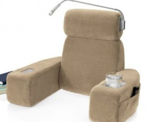 Massaging Bed Rest – This is, or holds, everything you will need for a quiet night at home curled up with a good book.