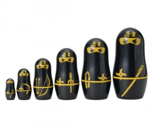 Ninja Nesting Dolls – What could be more ninja-ish than swiftly multiplying before your eyes?