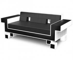 Space Invaders Couch – It is a little expensive, but who wouldn't love to have this in their living room?