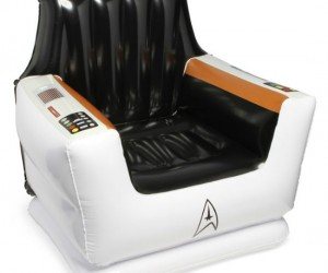 Star Trek Inflatable Captain's Chair – Here's something inflatable that you'd rather spend your money on than a blow up doll.