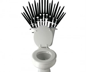 Game Of Thrones Toilet Decal – Be the king of your own throne with this whimsical toilet decal. You'll be number one while you're taking a number 2.