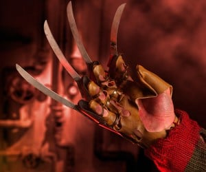 It's like Krueger is reaching straight out of your nightmares with this exact replica of his famed weapon. The leather may be fake but the blades are real. CAUTION: Not […]