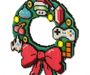 Any gamer would be proud to hang this on their front door for the holidays!