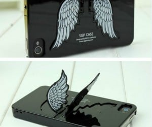 Angel Wing iPhone Case – Your iPhone will show you the way to heaven with these gorgeous angelic wings that fold out to make a stand for optimal media viewing.