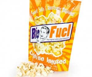 Caffeine Infused Popcorn – Caffeine plus popcorn what could be better than a caffeinated crunchy popped kernel of awesome?