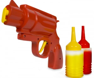 Condiment Gun – The ultimate weapon for a food fight, never go to a picnic, mess hall, or High School lunchroom without it.