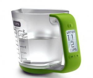 Never ever add the wrong amount of ingredients again with this futuristic looking Digital Measuring Cup and Scale