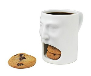 Face Mug – A convenient and cool looking way of carrying your milk and cookies!