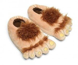 Hobbit Slippers – Nothing would keep your feet warmer than fur. You can have the hairiest feet in the Shire.