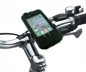 You can use your favorite GPS app on your iPhone for your bike ride, even in the rain.